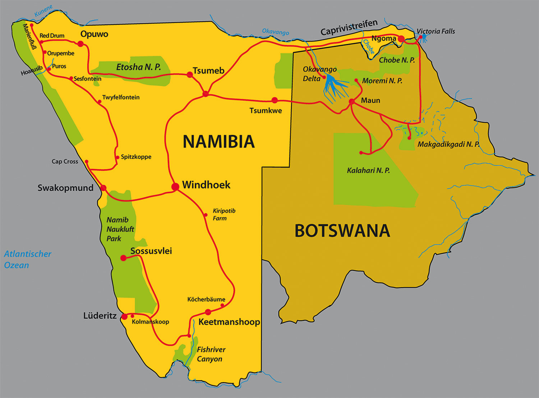 Namib Wüste Karte.Namibia Botswana Show Vortrag Michael Fleck