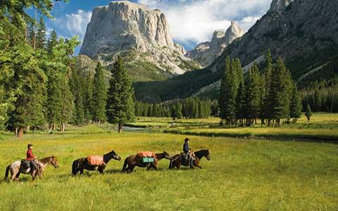 Reiter in Berglandschaft